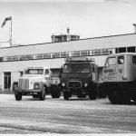 A la fin des années '60, Freddytrans achète quelques véhicules suédois, dont un Volvo F88, un Scania LB76 à cabine avancée et un Scania L76.