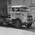 Un des premiers véhicules neufs : un tracteur DAF 1600 n°22 avec couchette.