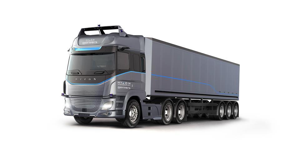thumbnail for Hyzon ontwikkelt (ook) autonome vrachtwagen